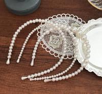 Einfache Perlenhakenreifen Stirnband Elegante Haarnadel Haarband Dekoration Geflochtene Haarschmuck Party Geschenk