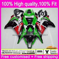 100% FIT Injektion för Kawasaki 1000cc ZX-10R ZX10R 16 17 18 74HM.25 Grön svart ZX1000 ZX 10 R ZX 1000 CC ZX 10R 2016 2017 2018 OEM FAIRING