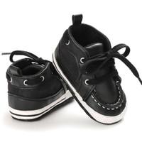 Младенец Первый ходунки Nonslip мягкой подошвой малышей Детская обувь Горячие 0-18M PU малышей Детские ботинки Кожа шпаргалки Boy