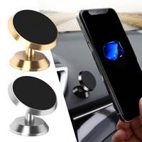 360 Grados Magnético Soporte de Teléfono Soporte de Teléfono Soporte de Coche Soporte de Teléfono de Rotación de Aleación de Metal Para Iphone 6 7 8 x Samsung S10 Teléfono Android