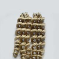 100g de peau blonde sur des cheveux remy 100% de cheveux remy dans des extensions de cheveux humains