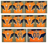 2004 Vintage New York Islanders Jerseys 27 Michael Peca 39 Rick Dipietro 55 Jason Blake 79 Alexei Yashin 94 Ryan Smyth Orange Retro Hockey