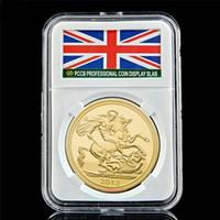2013 Königin Elizabeth II Handwerk George Souverän of UK 1 Oz Gold überzogene Souvenirmünze mit PCCB-Box