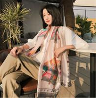 فاخر 40 ألوان الحرير الحرير رقيقة وشاح الشتاء وشاح شال المرأة المعطف باندانا الشالات فاخر مصمم