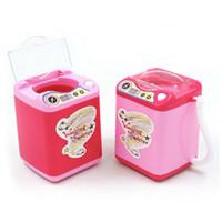 Mini Maquillaje eléctrico Cepillo Limpiador Limpiador de Polvo Soplo Simulación Multifunción Herramientas de Limpieza 3 Colores RRA1233