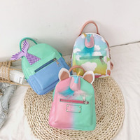 Vieeoease Girls Bag Cute Unicorn PU PU Mochila 2019 diseñador de moda de primavera hecho a mano clásico Mermaid School Bag CC-442