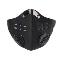 1pcs Respirant Activated Carbon Cyclisme Course à pied Sports de plein air Demi-masque visage anti-poussière Mountain Bike Protector Masque Filtre
