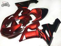 carenature Personalizza cinesi per Kawasaki Ninja ZX 6R ZX636 2005 2006 636 ZX6R 05 06 scuro kit moto rosso sport carenatura