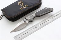 Hochwertige VESPA Version MSG-2 Dual-Action-Klinge: M390 (Satin) Griff: TC4 + CF, Outdoor-Überlebensmesser für EDC-Werkzeuge