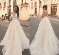 2019 robe de bal robes robes de mariée sexy appliquées recrutées back robe de mariée Bohemian Cathédrale Train Plus Taille Robes de mariée sur mesure