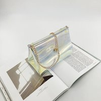 2020 new ladies shoulder bag jelly transparent triangle bag ...