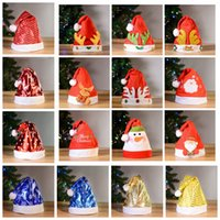 f21149c0977 Wholesale santa hats children for sale - Christmas hat cute thick antlers  plush Santa sequin cap