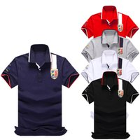 20ss famoso Mens Polo Estate Soild Mens dello stilista di alta qualità T shirt da uomo Stylist ricamo Mens High Street Fashion Polo