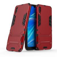 Für Huawei Enjoy 9 Hülle New Combo Hybrid Armor Bracket Impact Holster Cover für Huawei Enjoy 9