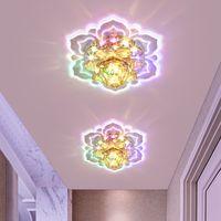 Kristal LED Spotlight Basit Modern Oturma Odası Koridor Koridor Işıkları Gömülü Yüzey Monte Tavan Işık Sundurma Giriş Downlight