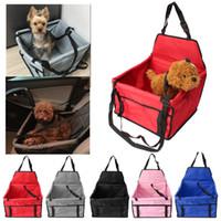 Köpek Kedi Köpek Pet Araç Mat Mesh Katı Bag için Pet Araç Emniyet Kemeri Booster Seyahat Taşıyıcı Katlanır Çanta