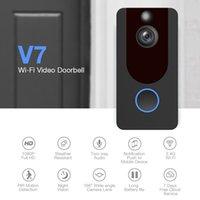 5 قطع eken v7 1080 وعاء hd الذكية اللاسلكية wifi الفيديو الباب جرس اللاسلكية البصرية الجرس سحابة التخزين للرؤية الليلية التحكم في التطبيق