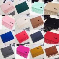 Solide Quaste Schals Kaschmir-Schal 16 Farben Pashmina Quasten Frauen-Winter-Klimaanlage-Verpackungs-Schal-Schal OOA7428
