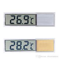 Autocollant modèle transparent réservoir de poissons aquarium LCD thermomètre numérique température capteur de thermomètre de l'eau