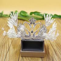 2020 Невеста короны головной убор Корейский свадьба лебедь ручной работы королева королевы принцессы день рождения волосы Tiaras ювелирные наушники