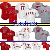 Camisola de Basebol de Los Angeles Custom Angels 27 Truta de Mike 17 Shohei Ohtani 5 Colunas de Basebol de Albert Pujols 2 Andrelton Simmons 29 Carew 56 Richards