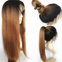 Bleached Knots Hair Silky Straight Full Lace Human Hair Wigs...