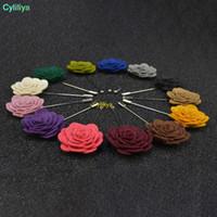 Hommes Femmes 3D Rose Broche fleur pour les costumes manteau d'hiver collier pour soirée de mariage Faovr Bijoux Cadeau Décoration