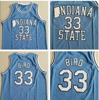 Männer Indiana State Sycamores Larry Green ISU Blau Weiß Springs Valley High School Black Soul Swingman Vogel College Basketball Jersey