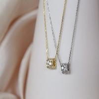 Меньший дизайн круг ожерелье женская корейская версия цепи ключицы стерлингового серебра простое темпераментное кольцо творческий сен департамент FR