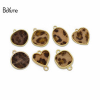 BoYuTe (50 Pieces Lot) Wholesale KC Gold Plated Leopard Pend...