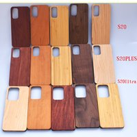 أكبر مورد للريال الخشب الهاتف القضية لسامسونج S20 زائد الملاحظة 10 S10 حالات امتصاص الصدمة خشبي + الغلاف PC