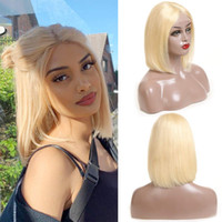 Blonde 613BOB Straight Lace Front Wig Full Lace Human Hair W...