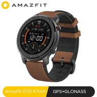 Глобальная версия новый Amazfit GTR 47mm Smart Watch 5ATM Smartwatch 24Days батарея GPS Music Control для телефона Xiaomi Android IOS