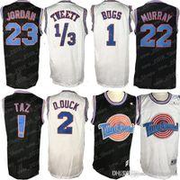 équipe tune Space Jam Jersey 1 Bugs Bunny az 1/3 Tweety 22 Bill Murray 10 Lola 2 D.DUCK maillot de basket-ball