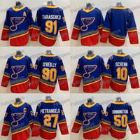 91 Vladimir Tarasenko St. Louis Blues 50 Binnington 27 Alex Pietrangelo 90 Ryan O'Reilly 10 Brayden Schenn Hockey Jersey