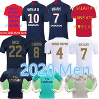 Top psg 2019 2020 Real Madrid white soccer jersey football m...