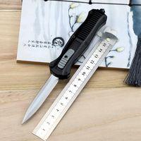 미니 이교도 더블 액션 칼 3350 D2 강철 창 포인트 EDC 포켓 전술 장비 나일론 칼집 생활 칼
