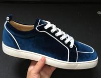 2019 Moda Sneakers basse di velluto Junior Scarpe da skate Rantus Orlato, Designer di lusso da donna Red Sole Party Wedding Outdoor Scarpe da trekking