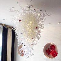 현대 불어 유리 공 샹들리에를 들어 파티 그리고 거실 장식 지우기 아트 데코 현대 펜던트 조명 손 유리 튤립 램프 풍선