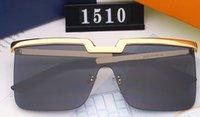 2020 nouvelle pièce Lunettes de soleil pilote Femmes Mode Hommes populaires de luxe Miroir style été deisnger de mode Sunglass moitié châssis en alliage