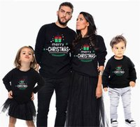 Merry Christmas Family Matching Clothing Long Sleeve Merry Christmas Outfits Mother Daughter Father Son Boys Autumn Pullover