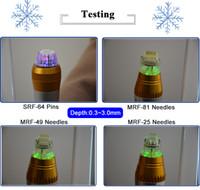 Microneedles Tips frazionario RF microneedle per macchina facciale Cura della pelle 25 aghi 49 Ago 81pin 64 Punta