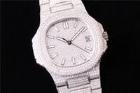 súper 5719 montre de lujo diamante del reloj tachonada Cal.324 SC movimiento mecánico automático relojes plegable relojes de diseño de hebilla