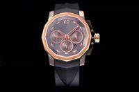 relógio V6 Almirante Taça (relógio de pulso), relógio dos homens, cinta de silicone, ASIA7753 temporização movimento mecânico automático, 44 milímetros de diâmetro, inferior densa