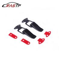 RASTP-Racing Car 2Pcs Pare-chocs Crochet de sécurité durable clip Kit de verrouillage clip HASP capot Auto Quick Release Fastener RS-ENL007