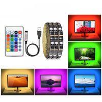 5V USB RGB Светодиодная полоса Света 5050 SMD 16 Цветов Неоновая лампа Лампа Подсветка Телевизор Освещение не водонепроницаемое 1M 2M 3M 4M 5M DIY Гибкая лента