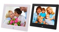 إطارات الصور الرقمية 7INCH TFT LCD شاشة عريضة سطح المكتب، إطار الصورة الرقمية، 2PC اللون أبيض / أسود إطار