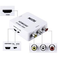 Mini HD 1080P HDMI2AV Video Converter Box HDMI a RCA AV / CVSB L / R Soporte de video NTSC Salida PAL HDMI a AV Adaptador