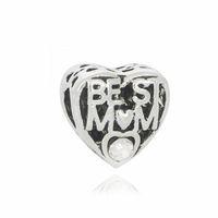 Пандора браслеты лучшая мама жемчужные бусины серебряные бусины для оптовых Diy европейские ожерелье ювелирные аксессуары