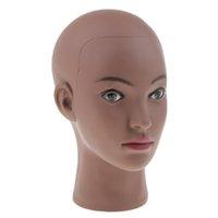 Mannequin Manikin Head - Schwarz Weiblich Bald Ausbildung Puppe für Perücken Herstellung und Hut Gläser Anzeige